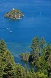 海湾绿宝石Tahoe湖 库存图片