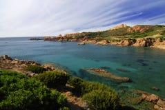 海湾美丽的撒丁岛 库存照片