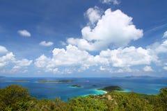海湾美丽的caneel usvi 库存照片