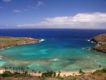 海湾美丽的hanauma夏威夷 免版税库存图片