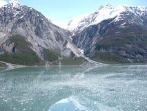 海湾覆盖在公园的冰川山国家海洋 免版税库存照片