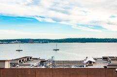 海湾视图在西雅图 免版税库存照片