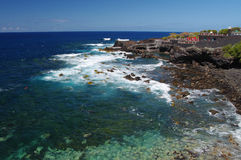 海湾迷人的海岛la palma 免版税库存图片