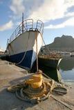 海湾遗弃hout拖网渔船 库存图片