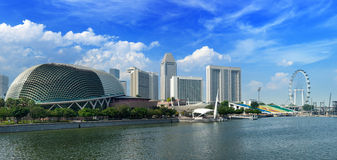 海湾都市风景海滨广场新加坡 库存图片