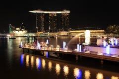 海湾集成海滨广场手段铺沙新加坡 库存照片