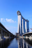 海湾集成海滨广场手段铺沙新加坡 库存图片
