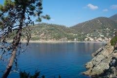 海湾风景在意大利海岸的 免版税库存照片
