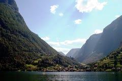 海湾风景的挪威 库存照片