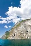 海湾风景的挪威 免版税库存照片