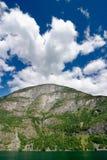海湾风景的挪威 免版税图库摄影