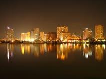海湾马尼拉地平线 免版税图库摄影