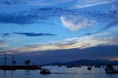 海湾黄昏英语温哥华 免版税图库摄影
