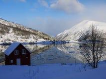 海湾,挪威风景 免版税库存图片