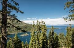 海湾绿宝石Tahoe湖 免版税库存图片