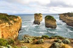 海湾Ard峡谷激动人心的景色在澳大利亚 库存图片