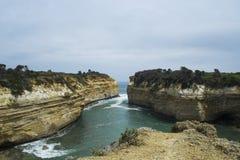 海湾Ard峡谷,十二位传道者,大洋路,南维多利亚 库存照片
