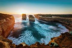 海湾Ard峡谷,大洋路,维多利亚,澳大利亚 免版税库存图片