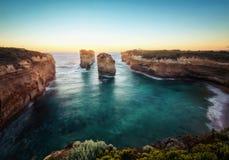 海湾Ard峡谷,大洋路,维多利亚,澳大利亚 免版税库存照片