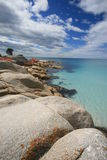 海湾binalong沙子绿松石水白色 库存照片