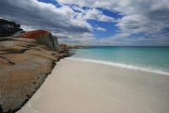 海湾binalong沙子绿松石水白色 免版税图库摄影