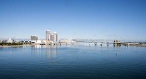 海湾biscayne著名佛罗里达家庭房子许多迈阿密富有 库存照片