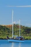 海湾boqueron风船 免版税图库摄影