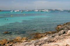 海湾Cala Xinxell 帕尔马,西班牙 库存照片
