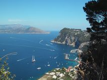 海湾capri意大利 免版税库存照片