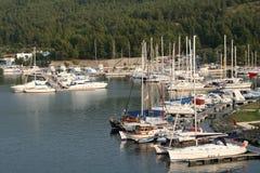 海湾carras希腊halkidiki m波尔图sithonia 库存照片