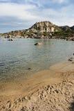 海湾castelsardo撒丁岛 免版税图库摄影