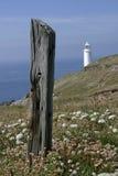海湾cornwall英国在trevose附近的harlyn题头 免版税库存照片