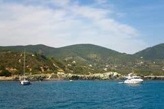 海湾elba海岛lacona 库存图片