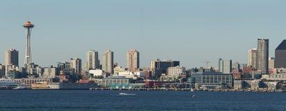 海湾elliott全景西雅图状态华盛顿 免版税库存图片