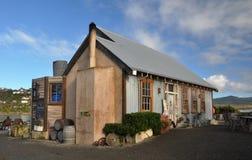 海湾fleur moeraki新的安排餐馆s西兰 免版税库存照片