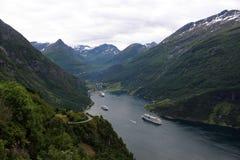 海湾geiranger挪威 库存图片