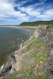 海湾gower半岛rhossili威尔士 免版税库存图片