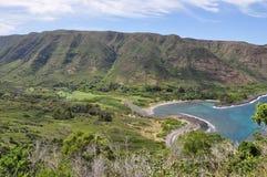 海湾halawa夏威夷Molokai 库存图片
