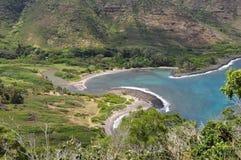 海湾halawa夏威夷Molokai 库存照片