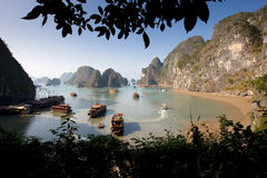 海湾halong 免版税图库摄影