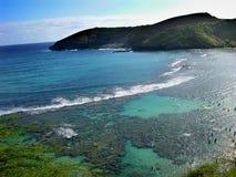 海湾hanamu夏威夷奥阿胡岛 免版税库存照片