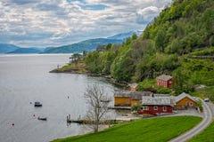 海湾hardanger挪威 免版税图库摄影
