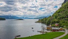 海湾hardanger挪威 库存图片