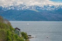 海湾hardanger挪威 免版税库存照片