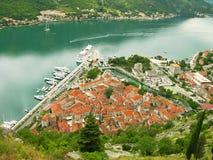 海湾kotor montenegro老城镇 库存照片