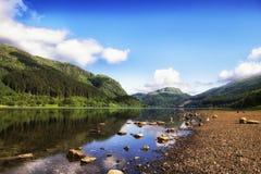 海湾Lubnaig、洛蒙德湖& Trossachs国家公园 免版税库存图片