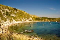 海湾lulworth英国视图 库存图片