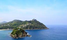 海湾San Sebastian视图 库存图片
