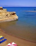 海湾sidari 库存图片