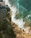 海滨在登巴萨,巴厘岛,印度尼西亚 免版税库存图片
